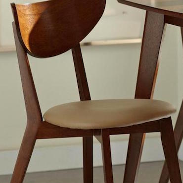 brown vintage dining chairs