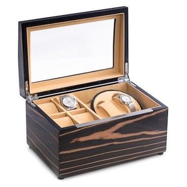 watch winder & display case combo