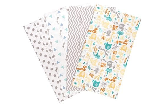 Set of baby burp cloths newborn baby essentials