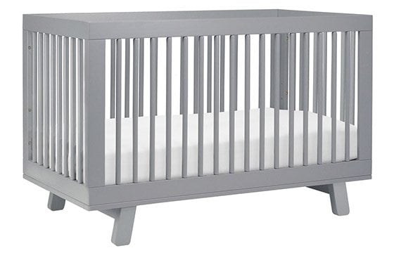 Grey crib newborn baby essentials