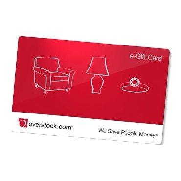 An overstock gift card, perfect for a gift
