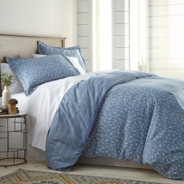 Blue patterned duvet cover