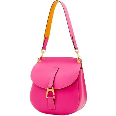 Bright pink crossbody bag