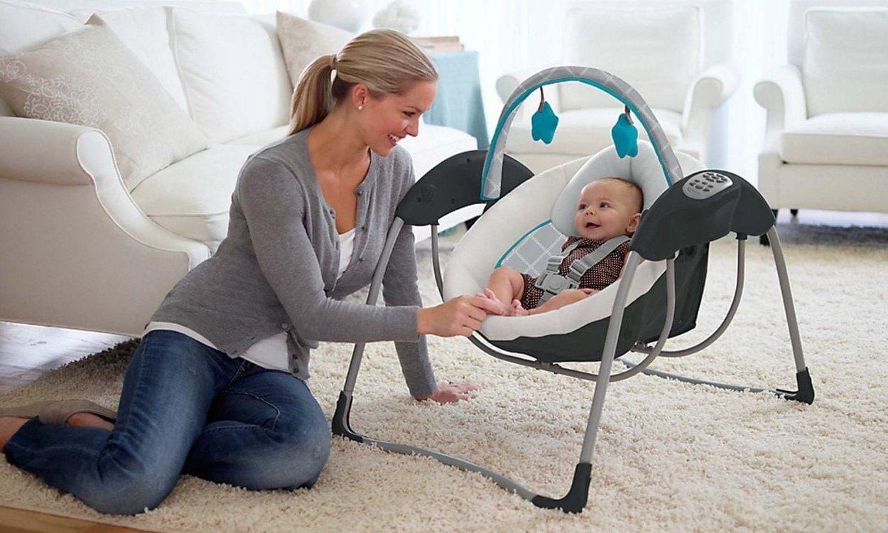 Baby Swings vs. Baby Bouncers