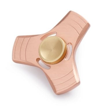 Gold fidget spinner, the perfect stocking stuffer for kids this Christmas