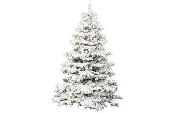 Flocked-Christmas-Tree
