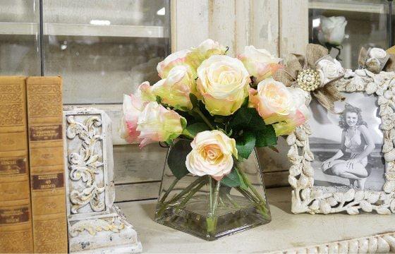 Flower Arrangements for shabby chic dining room