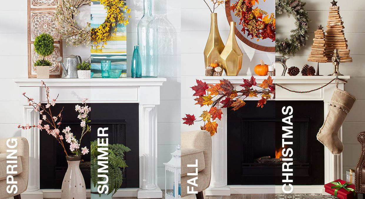 Mantel Decorating Ideas By Season Overstock Com Tips Ideas