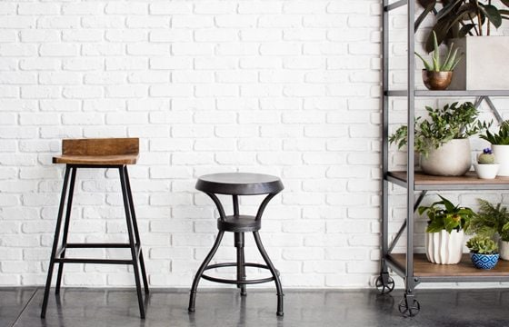 Metal seating for industrial kitchen