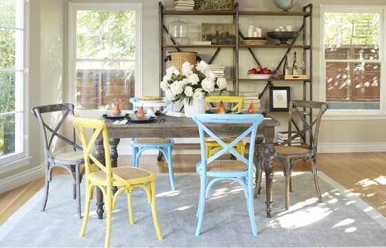 Mismatched Seating A Large Farmhouse Table
