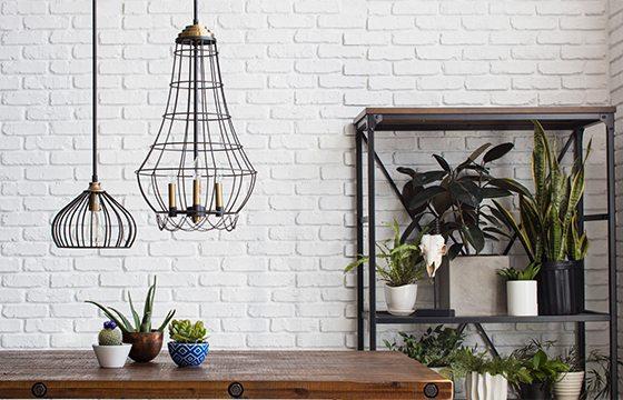 Pendant lighting in industrial kitchen ideas