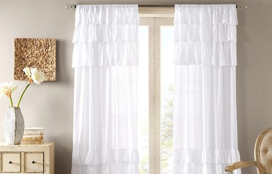 Ruffles for shabby chic bedroom