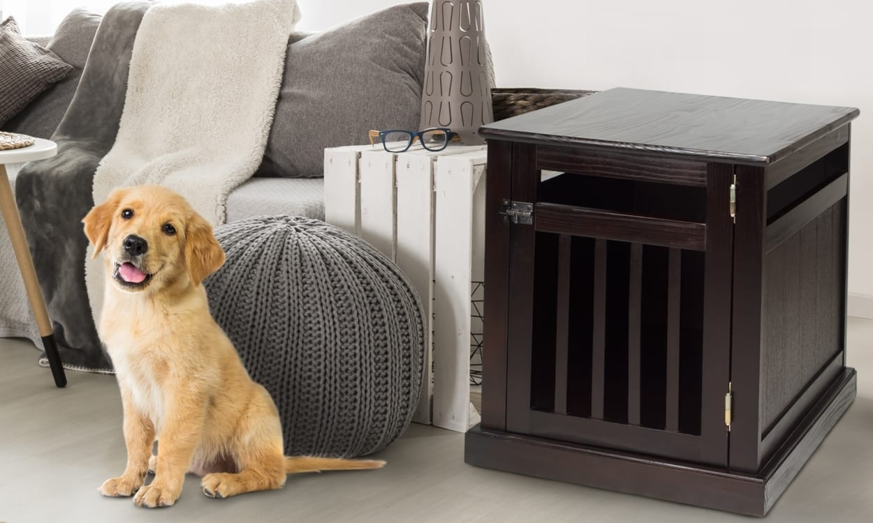 68634dcdb8a How to Train Your Dog to Sleep in a Dog Kennel - Overstock.com