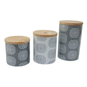 Gray Kitchen Canisters