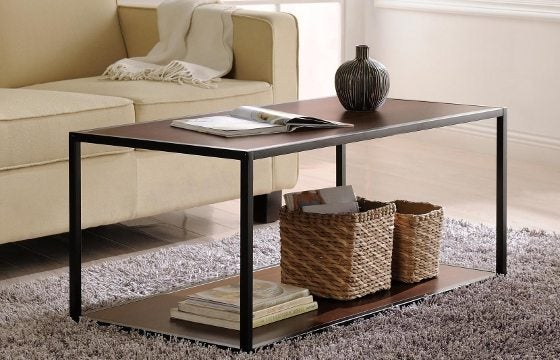 An industrial coffee table under $150