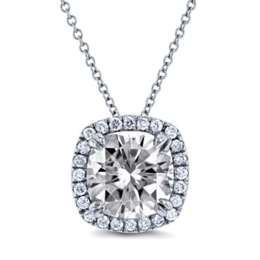 A diamond pendant necklace, a perfect romantic christmas gift for her
