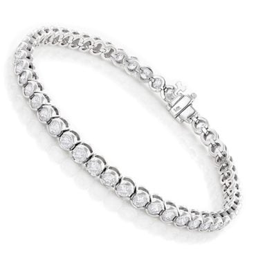 Silver and diamond tennis bracelet, the perfect gift idea for your wife