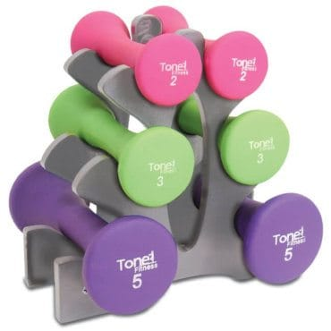 Set of dumbbells, the perfect gift idea for the workout girl on your Christmas list