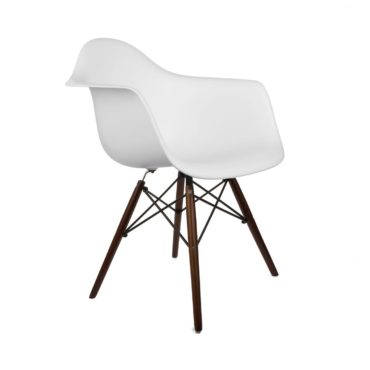 White eames style chair, the perfect Mid-Century modern gift idea for Christmas