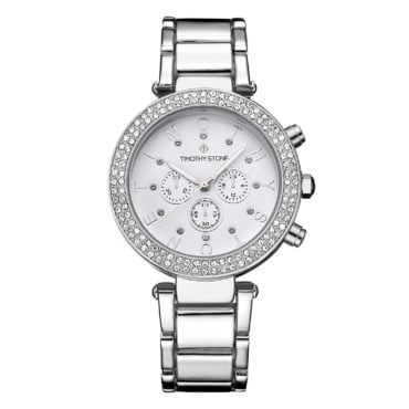 Silver and crystal fashion watch the perfect jewelry gift idea for friends