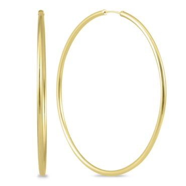 Gold hoop earrings are the perfect gift idea for your wife