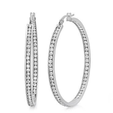 Silver hoop earrings the perfect jewelry gift idea for friends