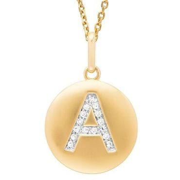 Gold initial necklace the perfect jewelry gift idea for friends