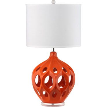 Orange Mid-Century modern table lamp, the perfect mid-century gift idea for Christmas