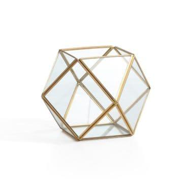 Geometric terrarium, the perfect boho style gift idea