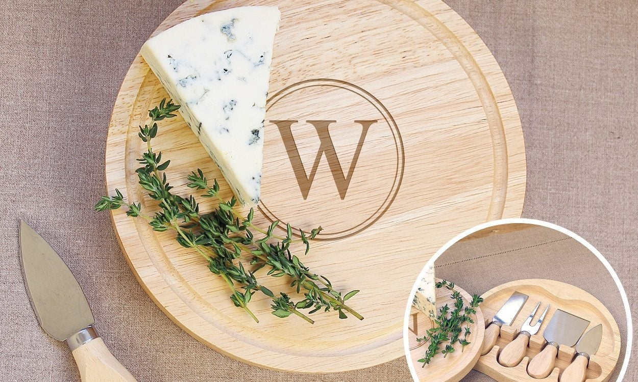 A personalized cheese board, a great unique christmas gift for her
