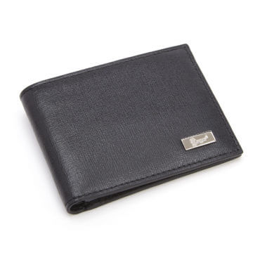 Black leather wallet, the perfect gift idea for our grandpa this Christmas