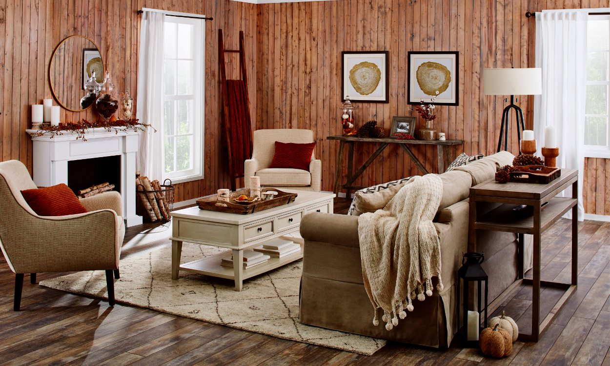 This Rustic Fall Living Room is What You Need this Year ...