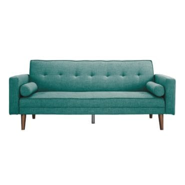 A futon, a type of furniture for your living room