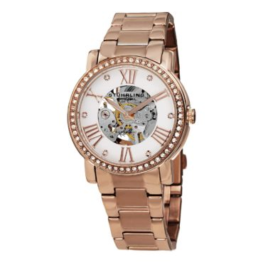 A women's rose gold skeleton watch, a perfect Christmas gift idea