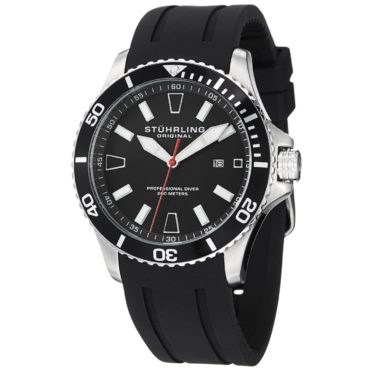 A mens black rubber sport watch, a perfect christmas gift idea