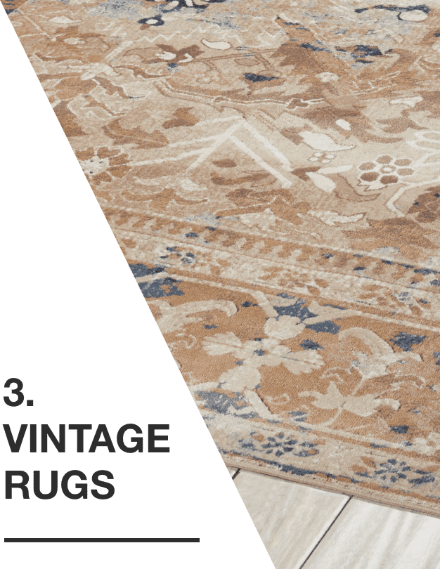 A seafoam green and pale blue vintage rug