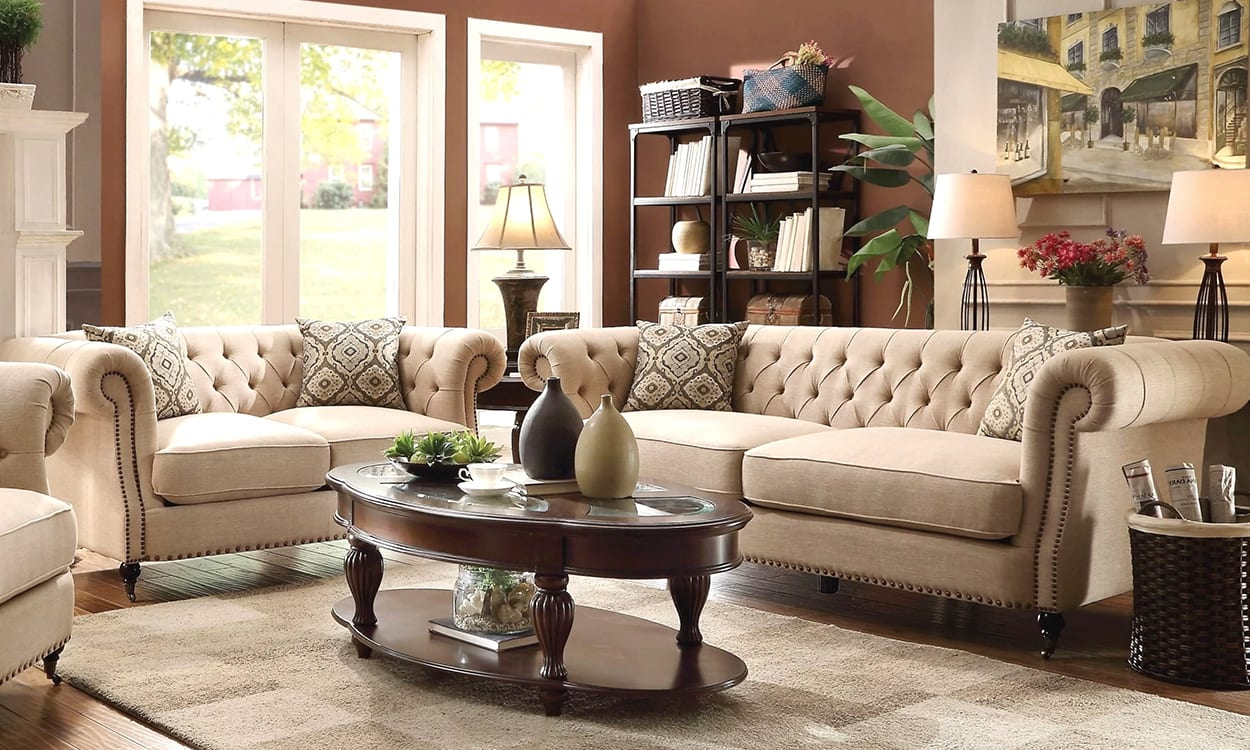 Traditional style living room, this is a very popular interior design style