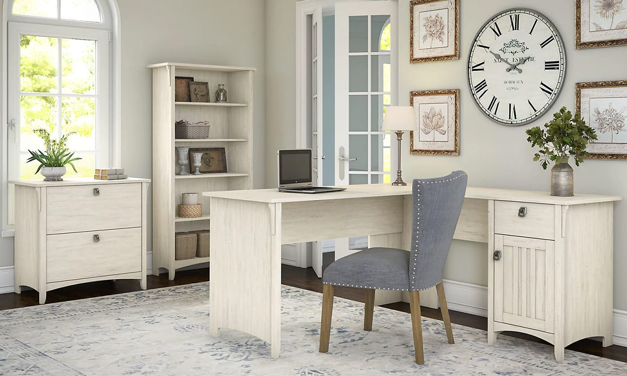 French country style office, this is a very popular interior design style