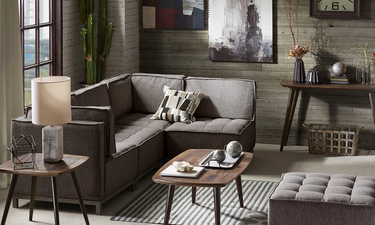 Industrial style living room, this is a very popular interior design style
