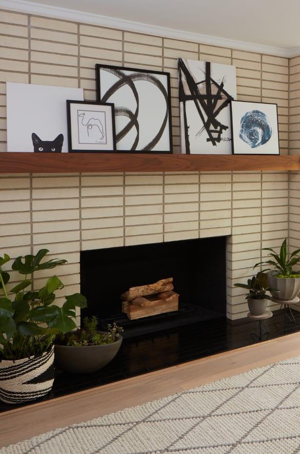 Artwork above fireplace