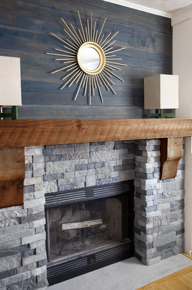 Metal Wall Decor Above Fireplace