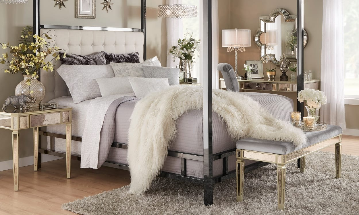 Glam style bedroom, the perfect bedroom style for your home