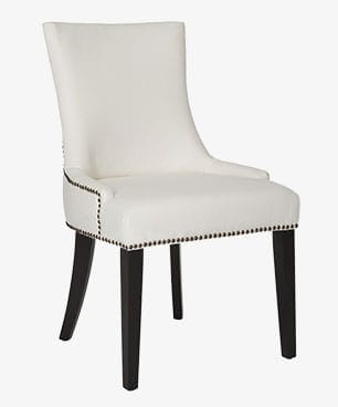 Upholstered side chair, a type of dining chair