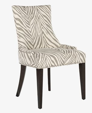 Upholstered parson chair, a type of dining chair