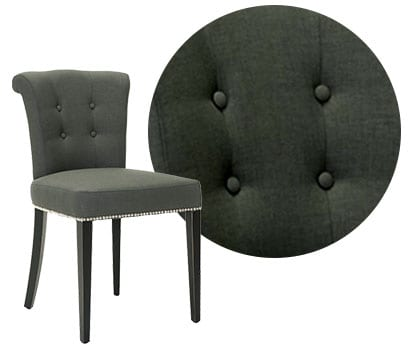Upholstered chair, a type of dining chair material