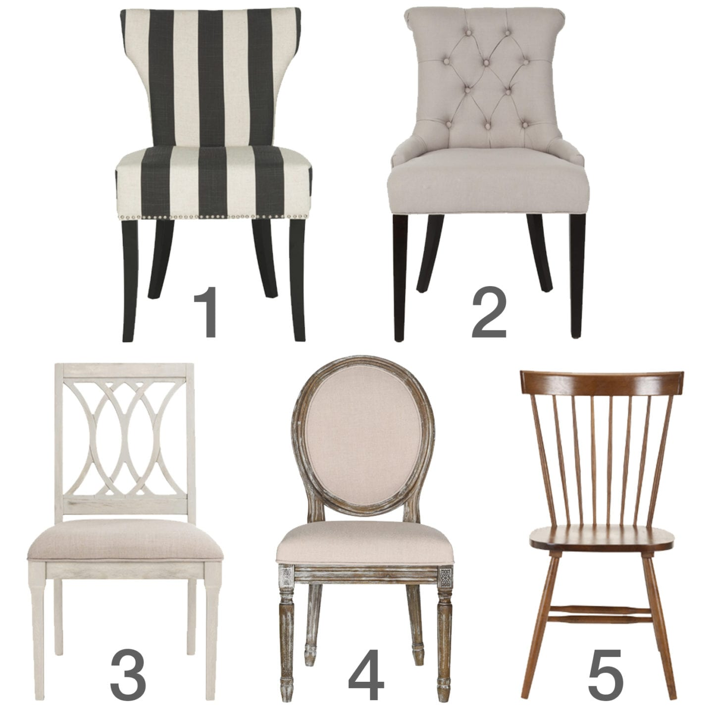Dining Chair Back Styles