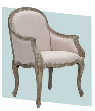 Distressed wood cottage charm dining chair style