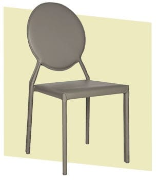Mid-Century Modern grey dining chair style