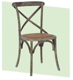 Country farmhouse style dining chair