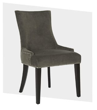 Upholstered traditional style dining chair